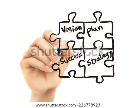 business concept written by 3d hand over white background - stock vector
