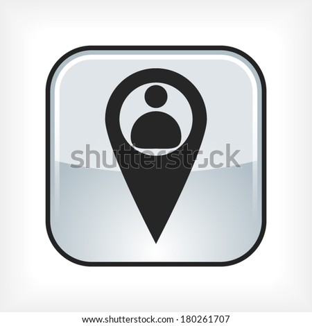 Business contact icon - stock vector