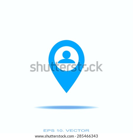 Business contact icon - vector icon - stock vector