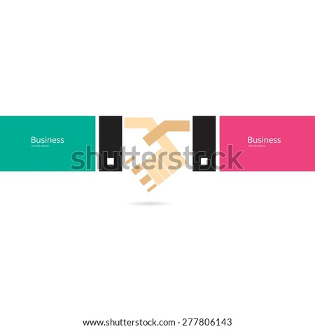 business contract - stock vector