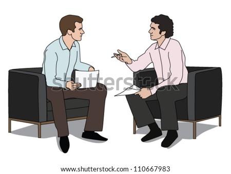 Business conversation - stock vector
