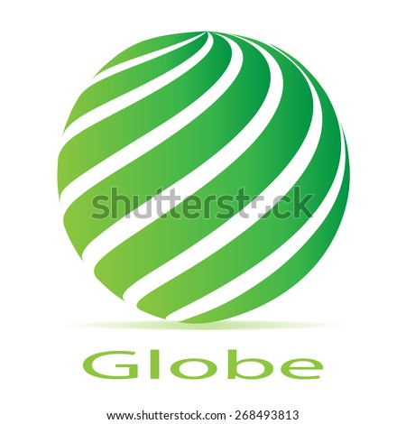 Business Corporate Abstract loop globe green logo - stock vector