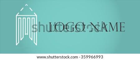 Business corporate design. Realty construction architecture symbol. Real estate logo design template. - stock vector