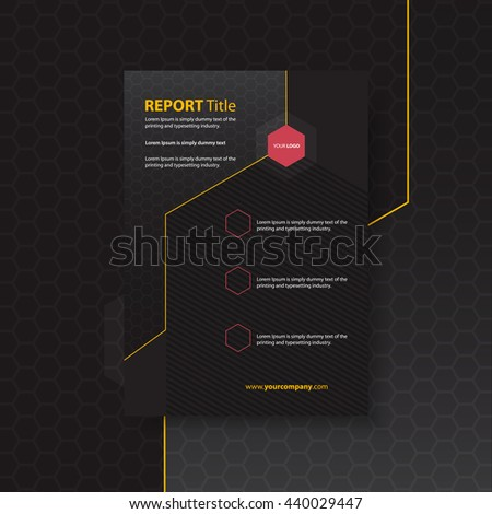 Business corporate Identity Templates for flyers brochure. Annual report cover abstract style on honeycomb background in a4 size. Hexagon pattern background. Vector Illustration.  - stock vector