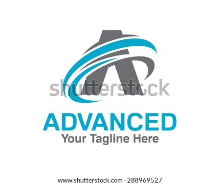 Business corporate letter A logo design template. Simple and clean design of letter A logo vector. - stock vector