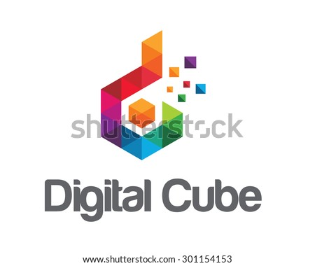 Business corporate letter D logo design vector. Colorful letter D logo vector template. Letter D logo for technology. - stock vector