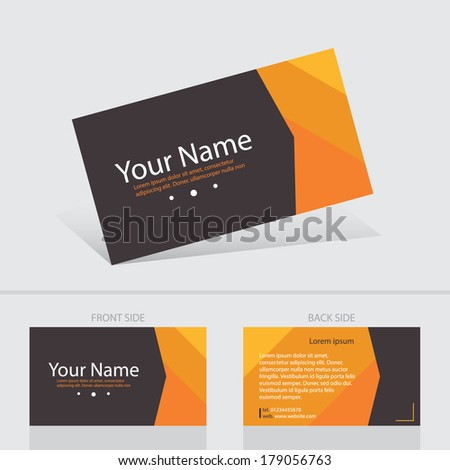 Business creative card abstract background templete. Vector illustration. - stock vector