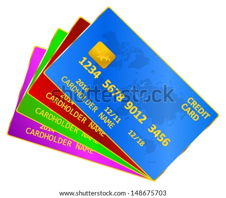 Business Credit Cards - stock vector