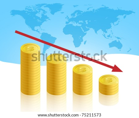 Business crisis concept vector illustration - stock vector