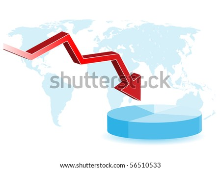 Business crisis - vector background with space for your text - stock vector