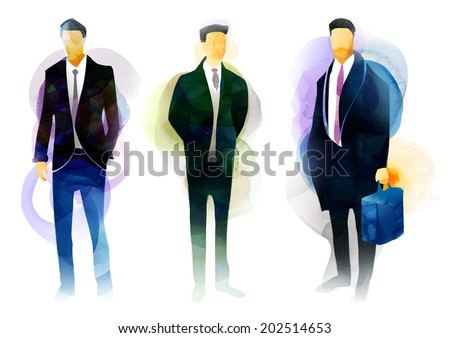 Business Crowd - stock vector