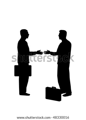 Business Deal Silhouette - stock vector