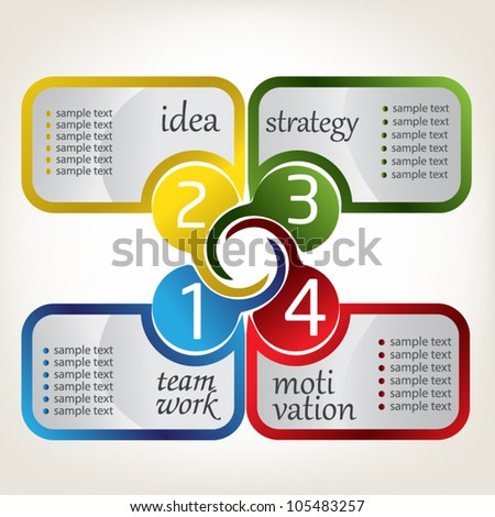 Business design - stock vector