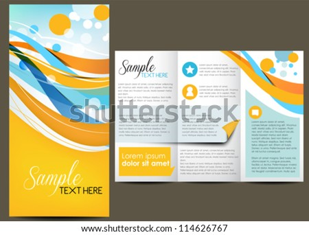 Business design, brochure - stock vector