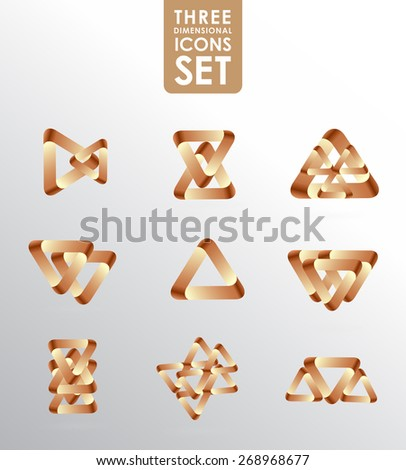 Business design elements  icon set, three-dimensional quality vector-icon  with a lot of variety ideal for business , flayer and presentation. - stock vector