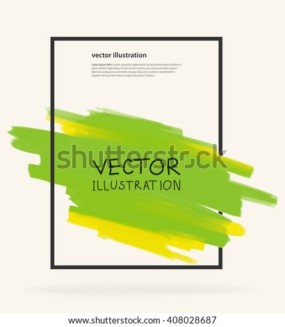 Business design templates with Green Paint Backgrounds. Abstract Modern Decoration. Vector Illustration. - stock vector