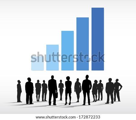 Business Determination Vector - stock vector
