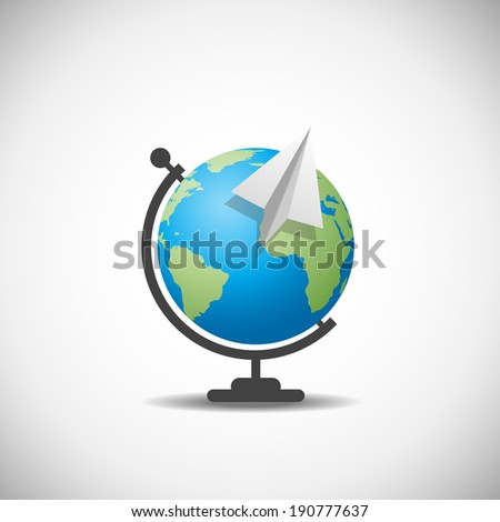 Business development success.  Globe World Logistics - stock vector