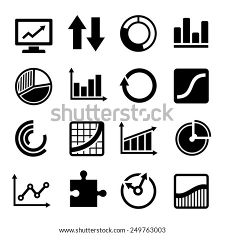 Business Diagram and Infographic Icons Set - stock vector