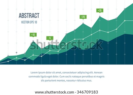Business diagram graph chart. Investment growth. Investment business. Investment management. Financial strategy concept. - stock vector
