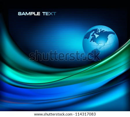Business elegant abstract background with globe. Vector illustration. - stock vector