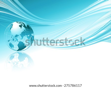 Business elegant abstract background with globe. Vector illustration for website design - stock vector