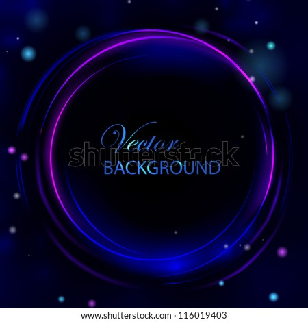 Business elegant circle light abstract background. Vector illustration. - stock vector