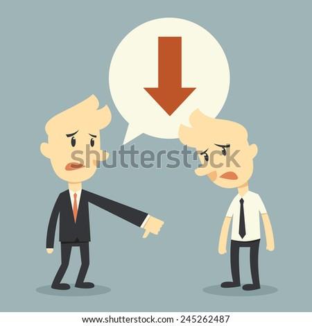 business failure concept - stock vector