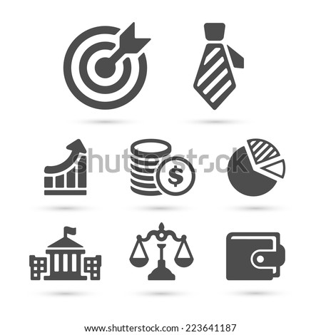 Business finance icons isolated on white set 1. Vector illustration - stock vector