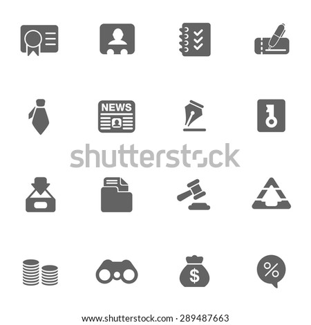 business & finance web Icons - stock vector