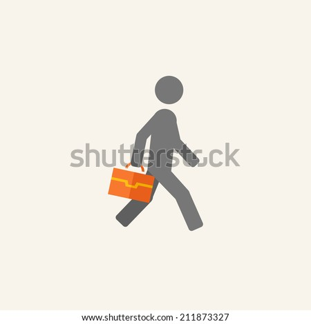 Business Flat Icon - stock vector