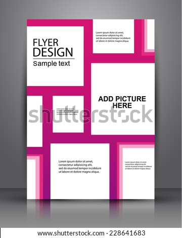 business flyer design for publishing, print and presentation.eps10 - stock vector