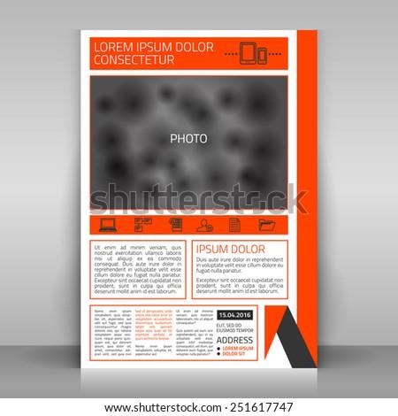 Business flyer design, poster template. Vector mock up. - stock vector