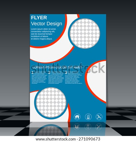 Business flyer template. Brochure cover, poster, booklet vector design. - stock vector