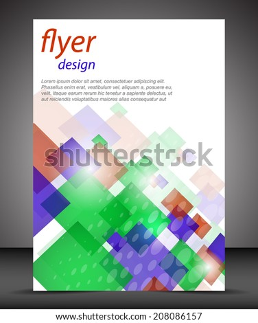 Business flyer template or corporate banner, cover design, brochure/design with place for your content, print or publishing - stock vector