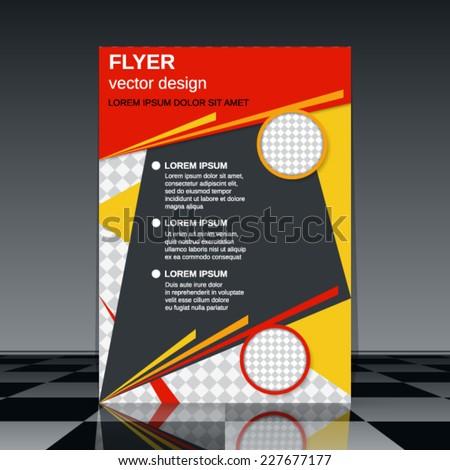 Business flyer vector template. Abstract brochure design. - stock vector