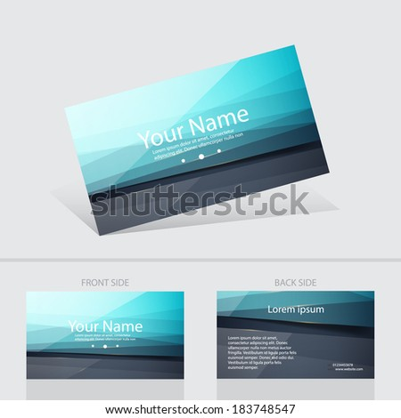 Business glossy creative card abstract background templete. Vector illustration. - stock vector