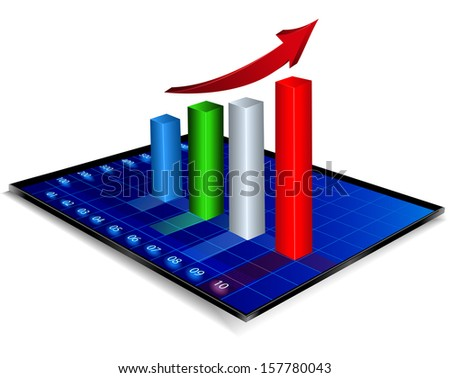 Business graph - stock vector