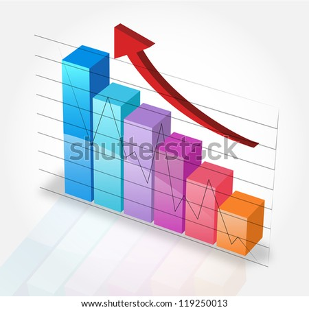 Business graph and chart 3 - stock vector