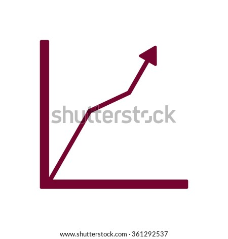 Business graph and chart icon - stock vector
