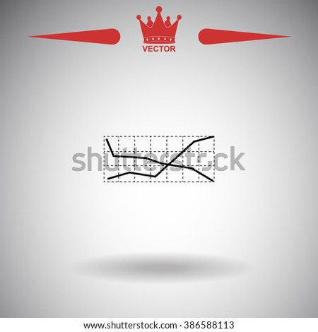 Business graph icon. Business graph icon vector. Business graph icon illustration. Business graph icon web. Business graph icon Eps10. Business graph icon image. Business graph icon logo. - stock vector