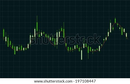 Business graph in the form candle - stock vector