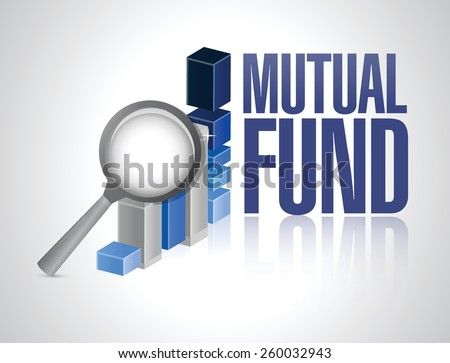 business graph mutual fund illustration design over a white background - stock vector