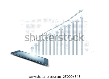 Business graph vector - stock vector