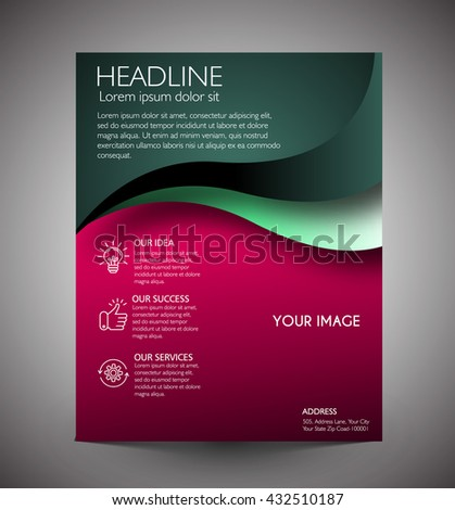 Business graphics brochures. web template, flyers and prints. - stock vector