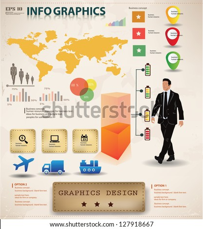 Business graphics design,info graphics,vector - stock vector