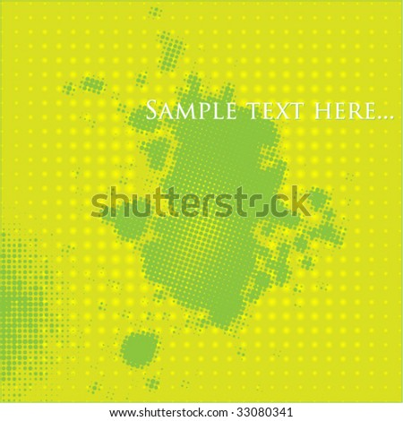 business green background - stock vector