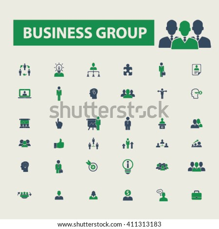 business group icons   - stock vector