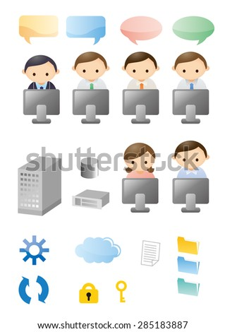 Business icon Material - stock vector
