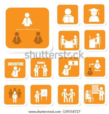 Business icon of career path and successful - stock vector